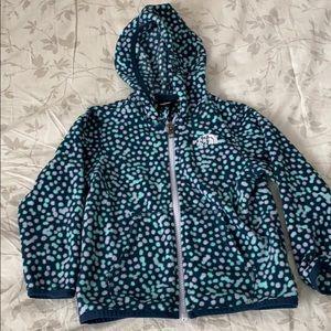 North face fleece zip up sweater